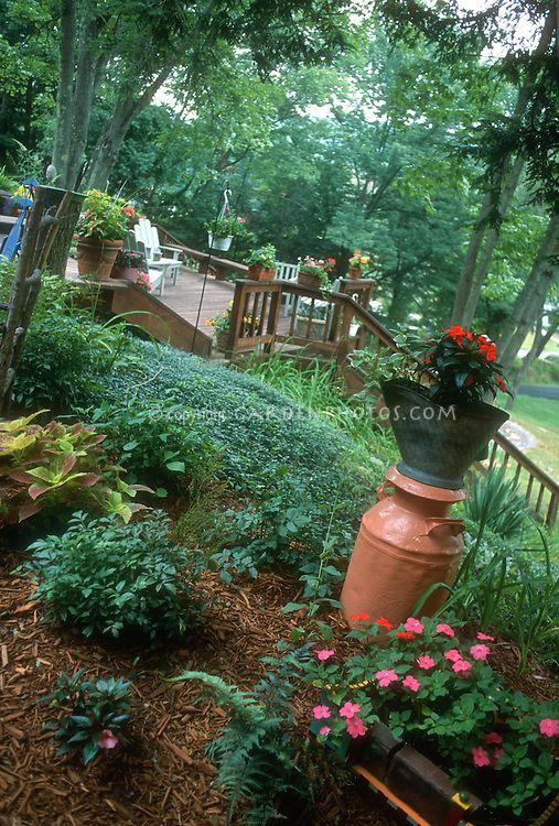 Backyard Gardening On A Hill By Judywhite Gardenphotos Com