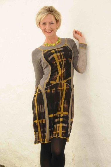 Kali Orea ochre shaped dress.285
