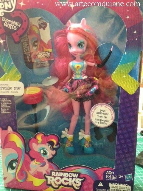 ARTE COM QUIANE - Paps,Moldes,E.V.A,Feltro,Costuras,Fofuchas 3D: Raimbow Rocks - Equestria Girls