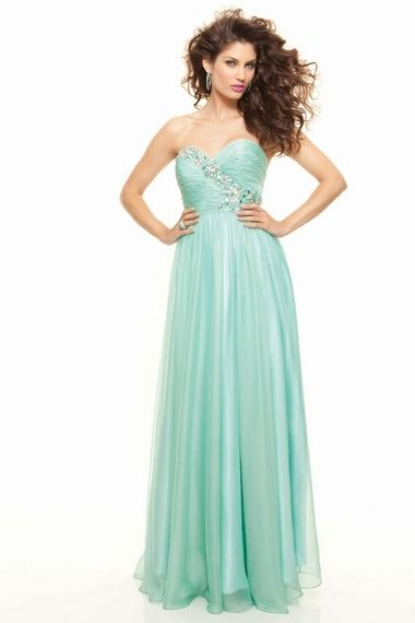 Shop 2013 Prom Dresses New Arrival Sheath Column Sweetheart Chiffon Sweep Brush Train all fashion new styles with big discount for girls and women.