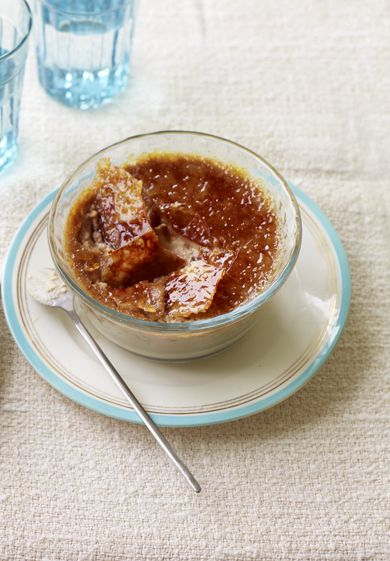 Mary Berry adds a coffee kick to this sweet, creamy dessert and shows you how to do the caramel topping without a chef's blowtorch