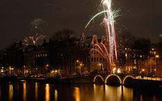 Herengracht and Amstel River, Amsterdam, The Netherlands, New Years celebrations #TheNetherlands #iGottaTravel