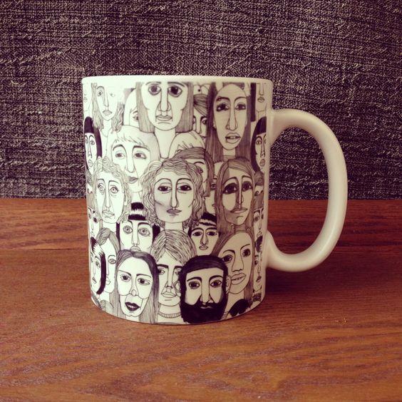 """Faces in the Tube"" pattern by Marina Molares #mug available at @Society6"
