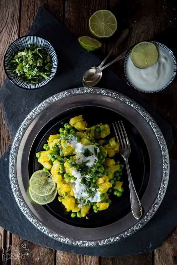 Ina Is(s)t: Orientalisch vegetarisch: Kartoffelsalat mit Erbsen und persischen Gewürzen