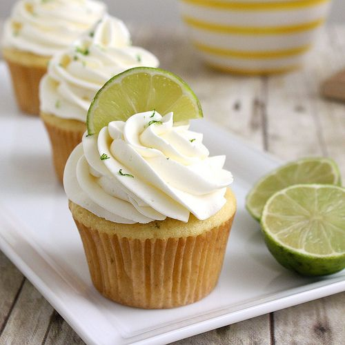 Margarita Cupcakes.  The frosting includes both tequila and lime, for the perfect little boozy dessert.