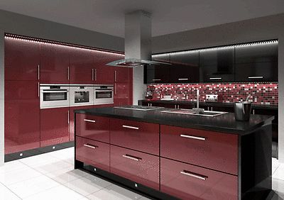 burgundy-black-gloss-kitchen-complete-fitted-units-new-not-used-or-ex-display