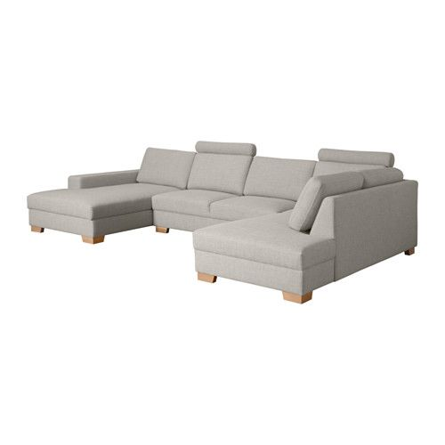 S u00d6RVALLEN Ecksofa mit R u00e9camiere links, Ten u00f6 hellgrau   Met, Om and Chaise longue