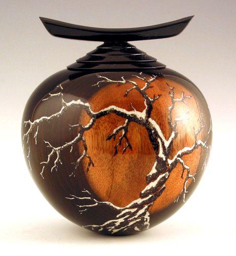 """Winter Moon Vase"" Stephen Hatcher - Fine Art Woodturning"
