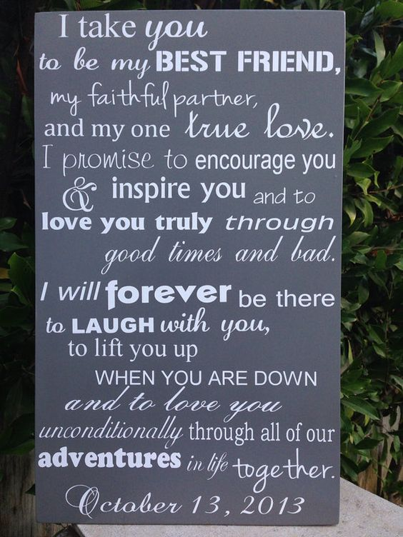 Wedding Vows Wood Sign 12 x 20 Subway Engagement by LilMissScrappy