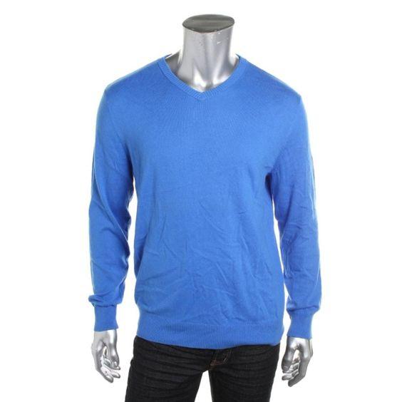 John Ashford Mens Knit Long Sleeves Pullover Sweater