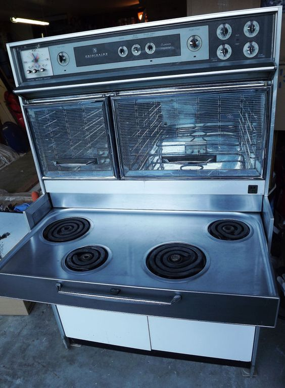 lovely Mid Range Kitchen Appliances #9: Stove used on Bewitched...love it!!! Frigidaire Custom Imperial Range Oven  Mid Century Kitchen Appliance Stove