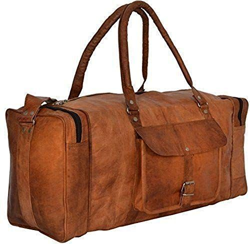 "New Men/'s 24/"" Large Men/'s Duffel Bag Travel Gym Squre Overnight Weekend Bag"