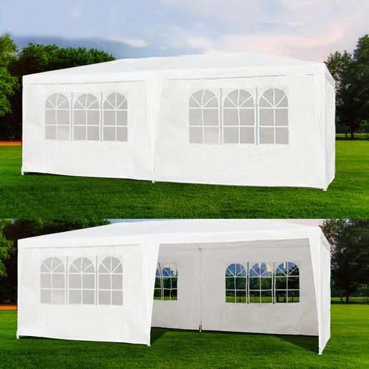 Details About 10 X20 Outdoor Canopy Party Wedding Tent White Gazebo Pavilion 4 6 Side Walls White Gazebo Canopy Outdoor Gazebo