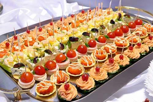 Wedding Appetizers Recipes | Wedding Appetizer and Food Placement ...