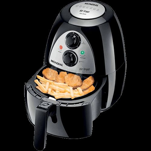 Fritadeira Eletrica Mondial Af 03 Air Fryer 2 7lts Preto