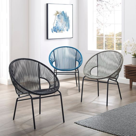 Shop Corvus Sarcelles Woven Wicker Patio Chairs (Set of 2) - On Sale - Free Shipping Today - Overstock - 17805619