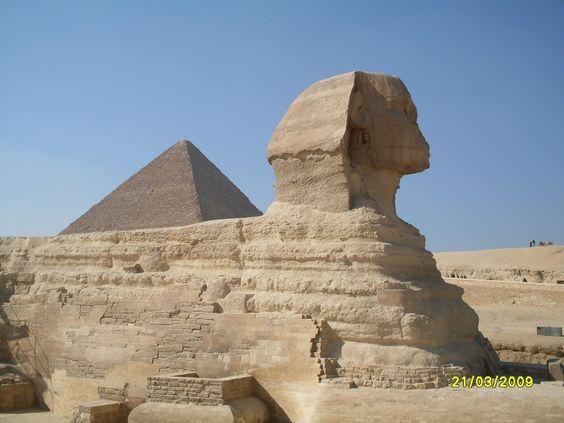 Esfinx, El Caire, Egipte .