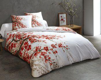 parure 2 ou 3 pi ces cerisier japonais housse de couette pinterest. Black Bedroom Furniture Sets. Home Design Ideas