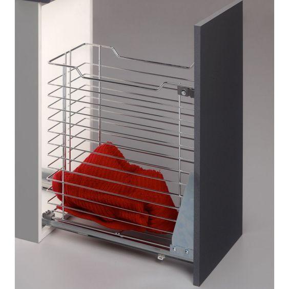Cesto extra ble para armario ideal para dejar la ropa - Cestas extraibles para armarios ...