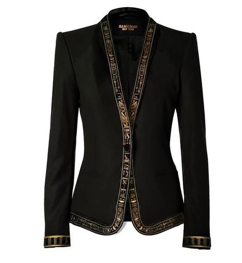 Women's NebMaatRa cerimonial trim blazer tailored in New