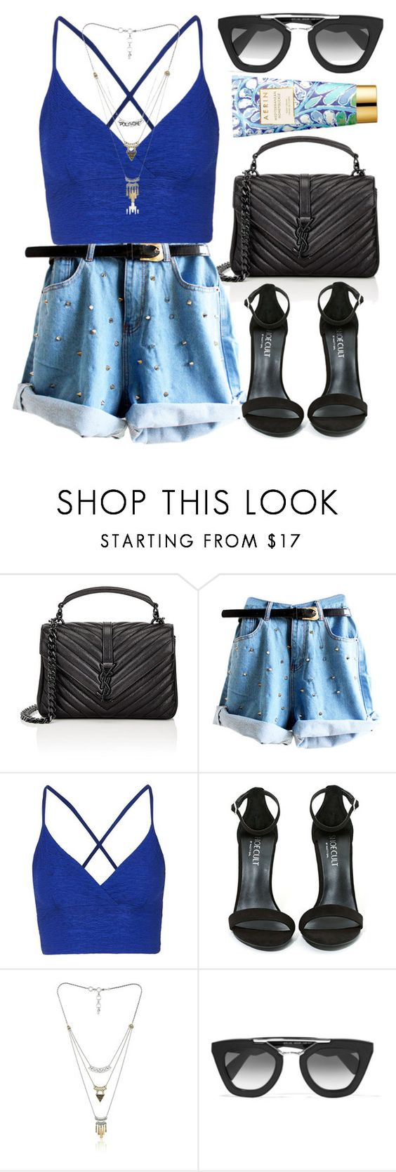 """""""#PVStyleInsiderContest"""" by amoiblog ❤ liked on Polyvore featuring Yves Saint Laurent, Topshop, Shoe Cult, Lucky Brand, Prada, AERIN, contestentry, styleinsider and PVStyleInsiderContest"""