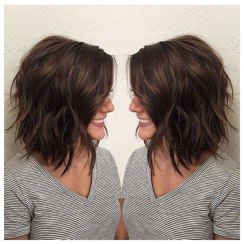 Longcurlyhair Curlylayeredhair Brunette Bob Lob Beach Waves When I See All These Wavy Bob Hairstyles Hair Styles Medium Hair Styles Thick Hair Styles