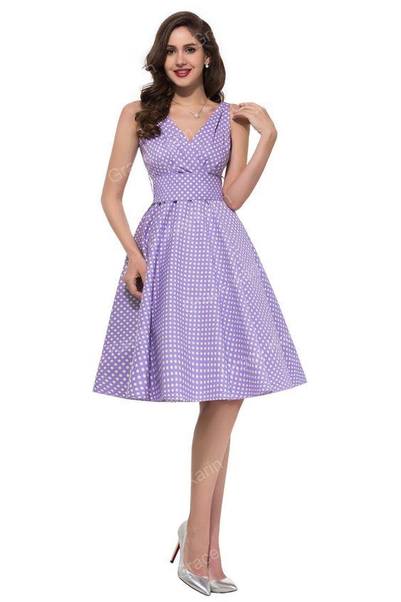 2015 Stock Summer Grace Karin Black Blue Pink Green Lilac Women Dresses 50s 60s Rockabilly Swing Retro Dress Plus Size H6295 Alternative Measures