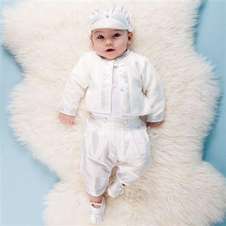 Owen 3-Piece Set - this is what I had my son baptized in.. tooooo stinkin cute!!