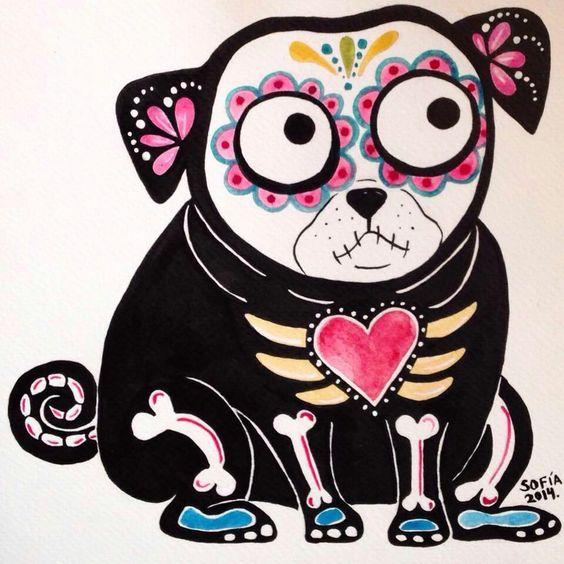 Sugar Skull Pug