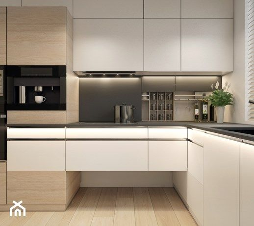 Aranzacje Wnetrz Kuchnia Mieszkanie Projekt Kuchni I Salonu Kuchnia Styl Nowoczesny Unique Contemporary Kitchen Kitchen Room Design Open Plan Kitchen