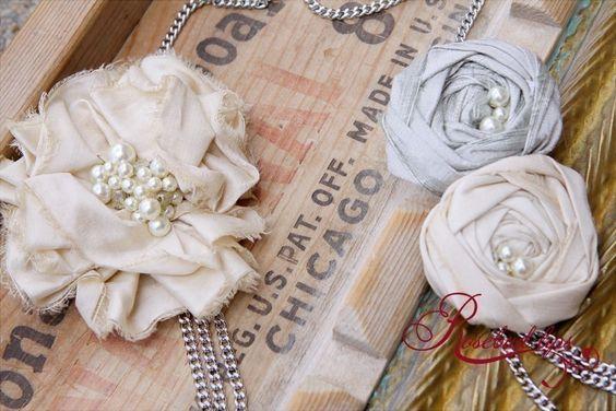 Punk Diva Rosebud Necklace- Silver Romance- 2010 Collection of Set Hope Free. $49.00, via Etsy.