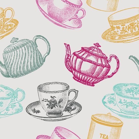 Kitchen Tea Background: Removable Wallpaper - Tea Time