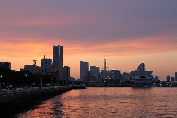 View from Yamashita Park, Yokohama, Evening