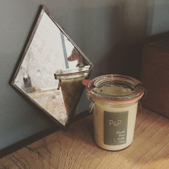 Pâte à tartiner chocolat blanc vanille - réalisées au brunch bleu canard par P&P