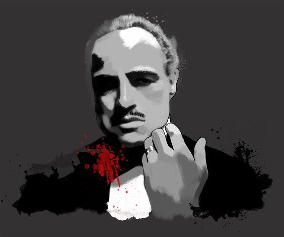 """Marlon Brando aus """"Der Pate"""", Tinted Style   http://www.yourpainting.de/motive-artikel/marlon-brando-als-der-pate"""