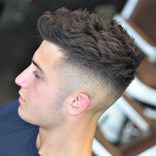 High Fade With Textured Hair On Top Best Haircut Style For Men Women And Kids Trending In 2021 Kisa Sac Erkek Sac Kesimleri Erkek Sac Modelleri