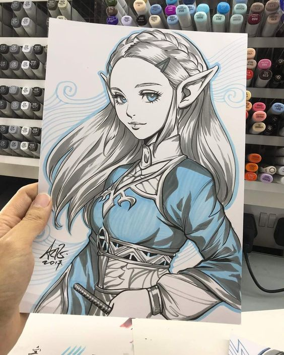 Zelda drawing- Artgerm
