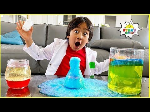 Easy Diy Science Experiments For Kids With Ryan Stayhome Learn Withme Science Experiments Kids Diy Science Diy Science Experiments