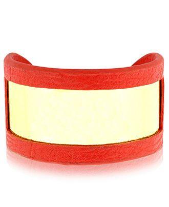 BCBGeneration Bracelet, Gold-Tone Coral PVC Cuff Bracelet - Fashion Bracelets - Jewelry & Watches - Macy's