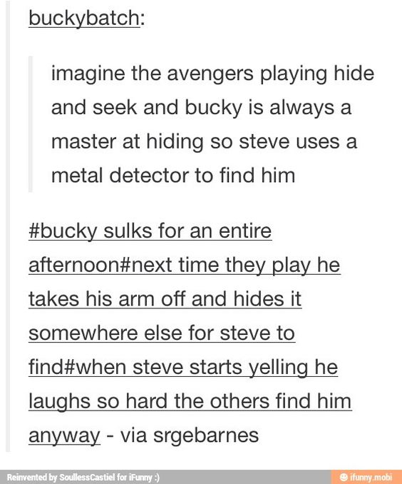 Awwww a Steve and Bucky headcanon that doesn't make me want to cry!