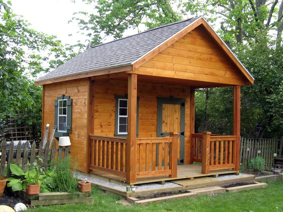 Rustic sheds with porch 10x16 outdoor screen house for Shed with screened porch
