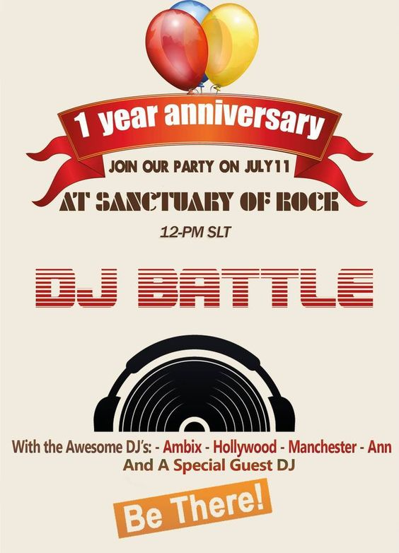 Sanctuary of Rock DJ Battle http://theantigirlygirl.com/2015/07/10/sanctuary-of-rock-turns-1/