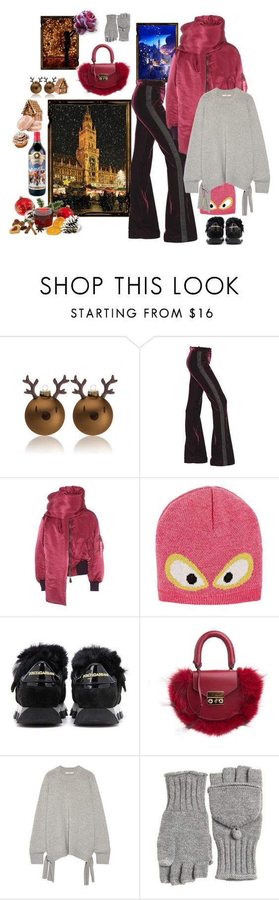 """""""Casual Christmas Market Opening! Let's get jolly!"""" by juliabachmann ❤ liked on Polyvore featuring Roberto Cavalli, Balenciaga, Fendi, Dolce&Gabbana, SALAR, TIBI and Calypso St. Barth"""