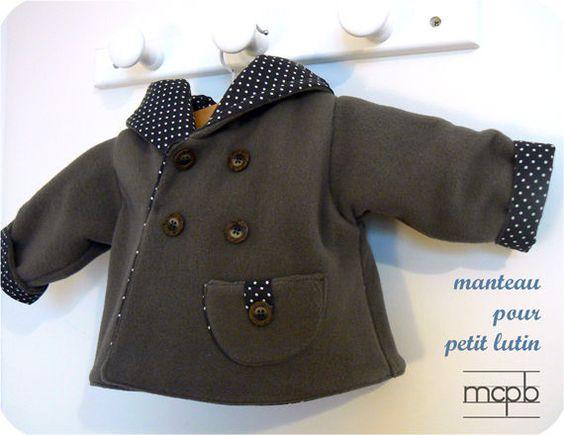 Manteau des Intemporels pour bébé by MCPB