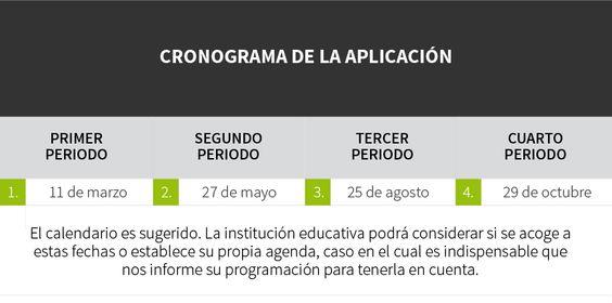CRONOGRAMA DE LA APLICACIÓN