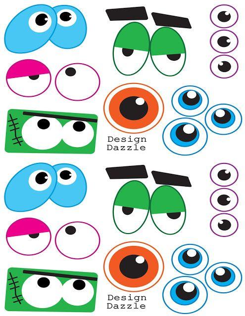 Free Monster Printables - for making monster faces: