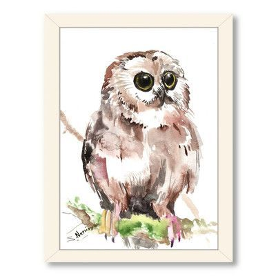 Americanflat Owl 6 by Suren Nersisyan Framed Painting Print Frame Color: