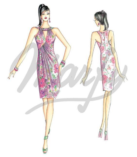 Sewing pattern DressSewing Pattern 3436: