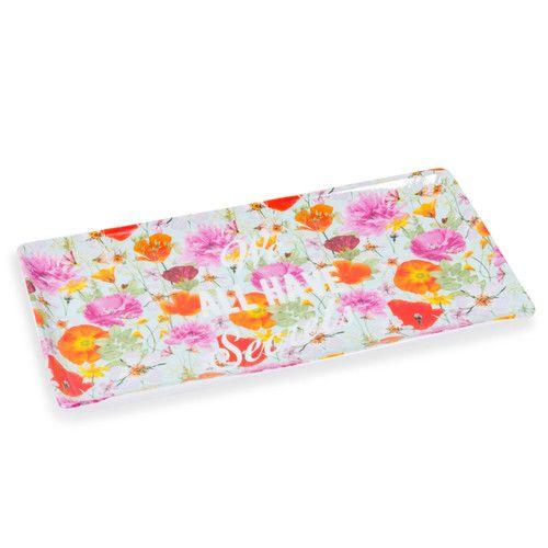 Kuchenplatte aus Porzellan, mit Blumenmotiven, SECRETS