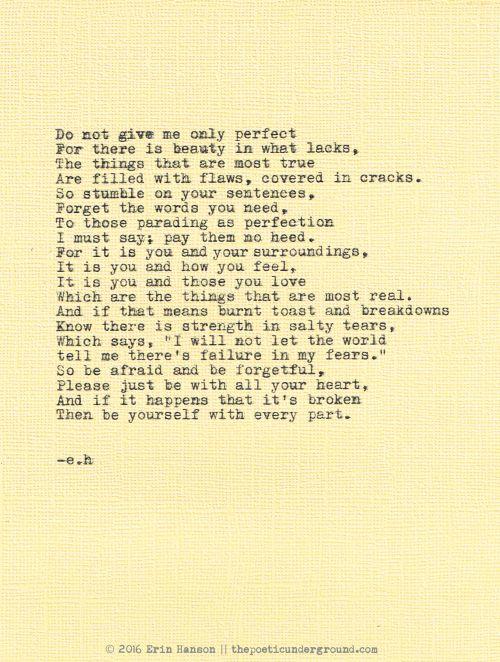 Pursuit of Perfect. Erin Hanson